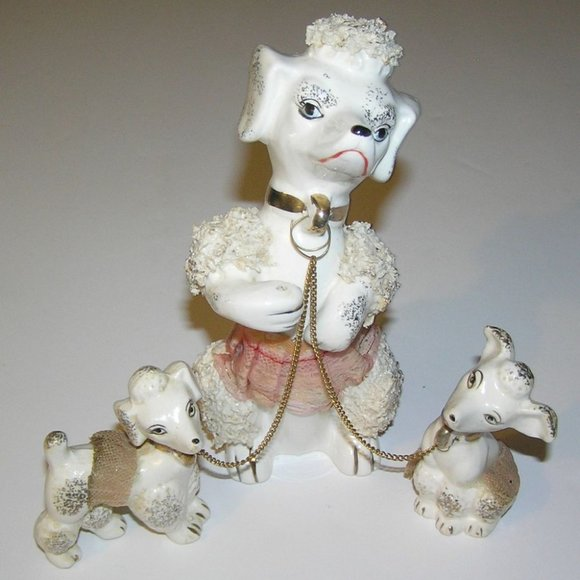 """Mid C. Spaghetti Poodle & Puppies with Tutus 6.5"""""""